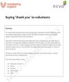Volunteering Information Sheets: Saying