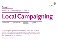 NCVO Members Quick Guide to Local Campaigning
