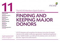 NCVO Members Quick Guide to Finding and Keeping Major Donors
