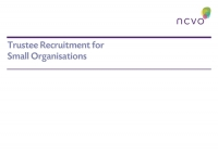Trustee Recruitment for Small Organisations