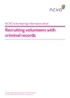 Volunteering Information Sheets: Recruiting volunteers with criminal records