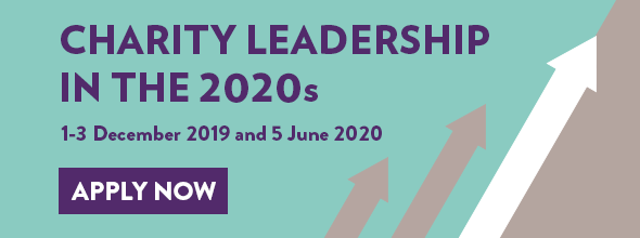 NCVO banner: Leadership in the 2020s