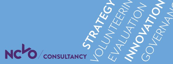 NCVO Consultancy banner: strategy, volunteering, evaluation, innovation, governance