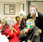 Centre for Chinese Contemporary Art – mask-making workshop with Lydia Meiying. Photographer: Lydia Meiying.