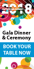Charity Times Awards 2018 Gala Dinner and Ceremony Book YOur Table Now